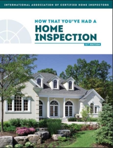 Now that You've had a home inspeciton book