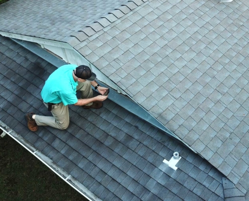 Checking roof
