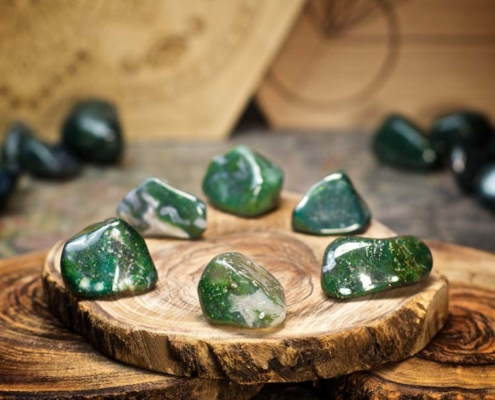 Green Moss Agate - Home Healing Session Southern California