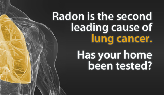 Radon is the leading cause of lunch cancer