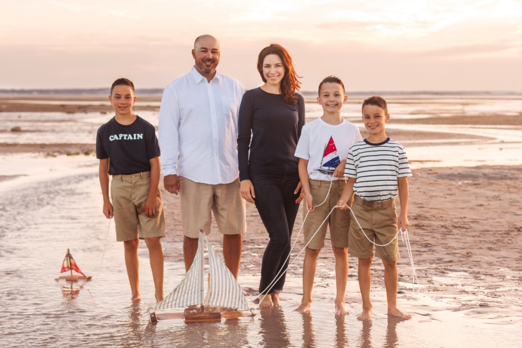 Jon Sady, owner and lead inspector of Sady Home Inspections, and his family