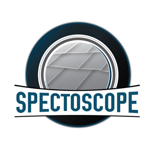 Spectoscope Graphic on White Background.