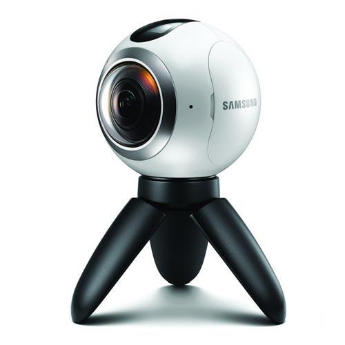 360 Camera on White Background