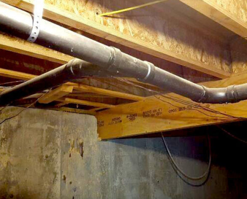 Oops! Someone forgot to insulate this house. Seriously, this home had NO insulation under it. This can lead to not only poor energy efficiency, but water & mold damage as well.