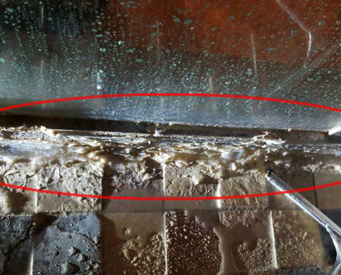 I found this caulking job in a shower today, and I'm kind of speechless...