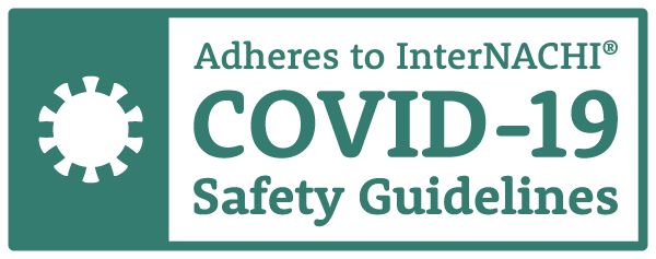 Adhere's to InterNACHI Certified COVID 19 Guidelines